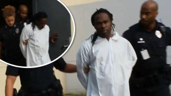 Primeras imágenes de sospechoso de triple homicidio tras su arresto