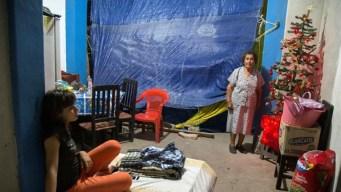 Damnificados por sismos viven Navidad con dolor