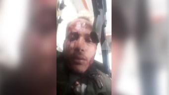 Militares venezolanos atacan con granadas a Oscar Pérez