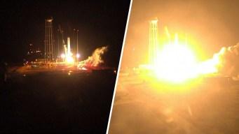Video: lanzan cohete con suministros vitales y ¿helado?