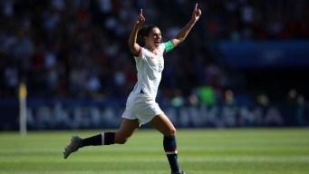 Carli Lloyd mete el primer gol para EEUU