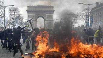 A cuatro meses: violento choque en las calles de Francia