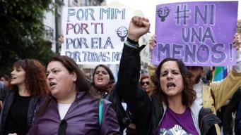 Multitudinarias protestas contra la violencia de género