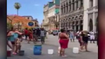 Cubanos protestan por falta de agua