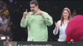 Maduro inicia campaña presidencial a ritmo de reguetón