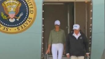 Presidente Trump llega a la Florida