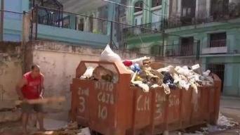 Problemas de recogida de basura en La Habana