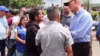 Scott de visita en frontera de Venezuela con Colombia