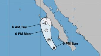 Depresión Mario se debilita camino a Baja California Sur