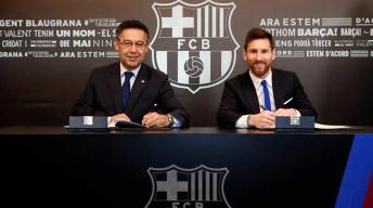 Messi firma hasta junio de 2021 con cláusula millonaria