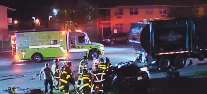 Trágico accidente tiene a una mujer al borde de la muerte
