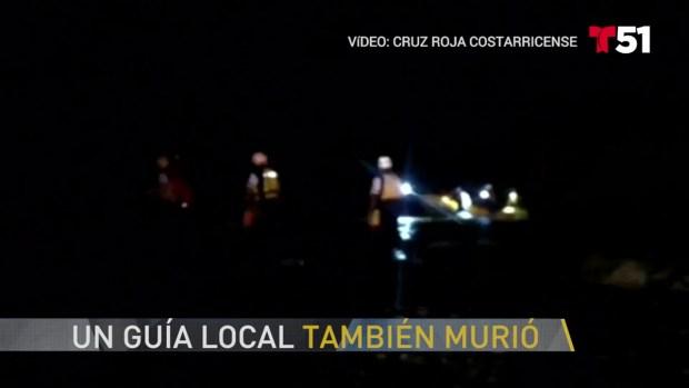 Hombres de Miami, guía mueren en accidente en Costa Rica