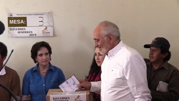[TLMD - NATL] Elecciones en Bolivia : así votaron Evo Morales y Carlos Mesa