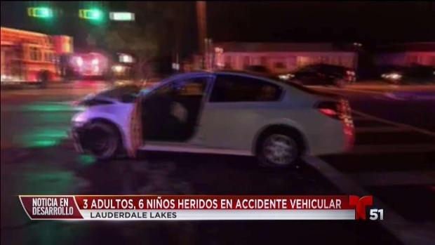 [TLMD - MIA] Accidente en Lauderdale Lakes deja 9 heridos