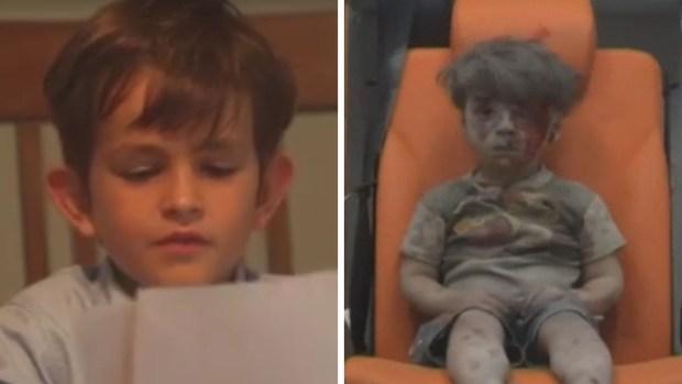 Niño envía carta a Obama para adoptar a menor sirio