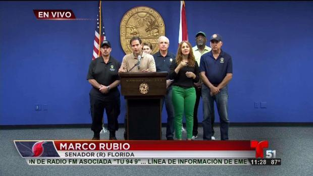 Autoridades de Miami-Dade en conferencia de prensa sobre Irma