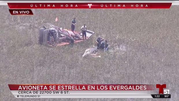 [TLMD - MIA] Avioneta cae en los Everglades