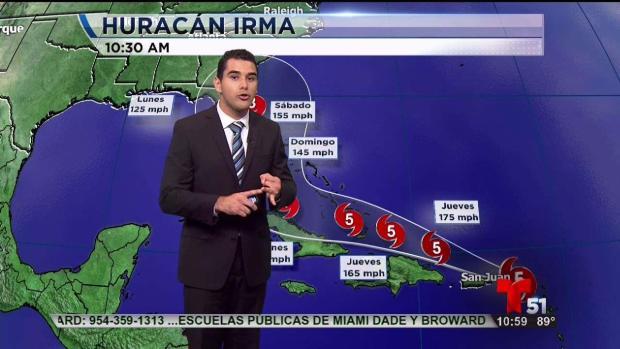 Huracán Irma avanza hacia el norte cerca de Fort Myers