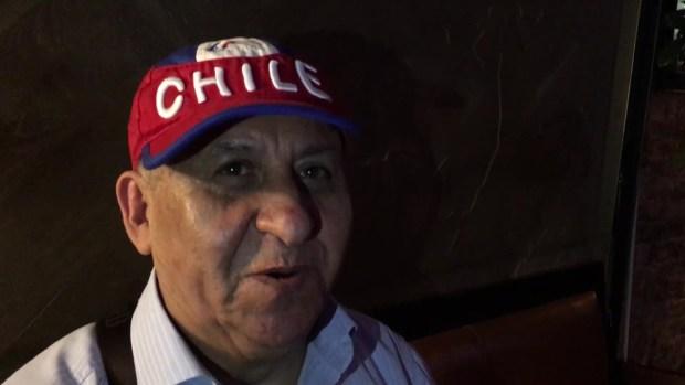 Chilenos celebran su pase a la final II