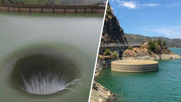 [TLMD - NATL] Increíble e histórico espectáculo: imponente agujero en medio de un lago