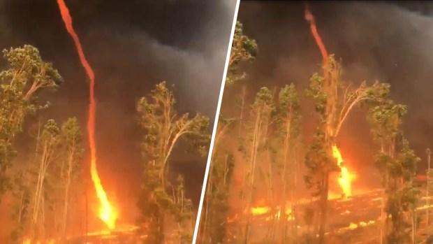 [TLMD - NATL] Captan en video espeluznante tornado de fuego