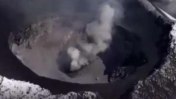 Como nunca lo viste: el increíble cráter del Popocatépetl