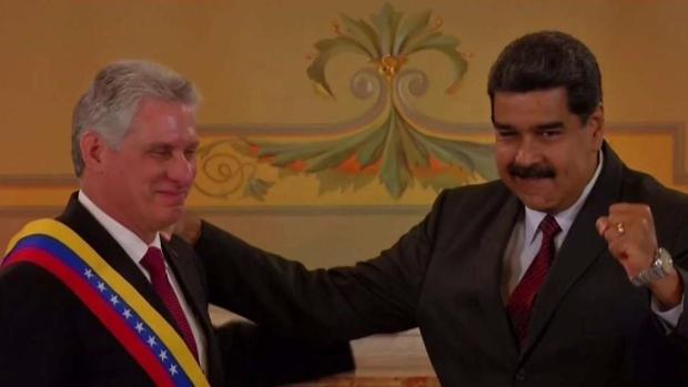 [TLMD - MIA] Díaz-Canel participa en toma de posesión de Maduro