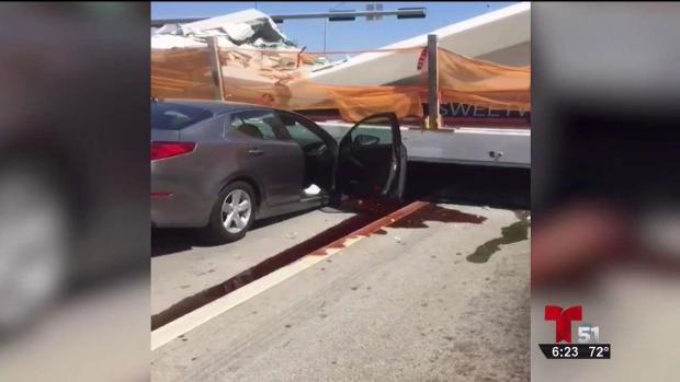 [TLMD - MIA] Dramáticas imágenes momentos después del colapso del puente