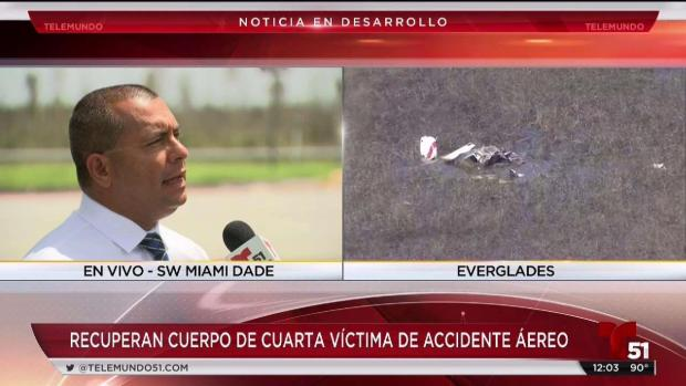 [TLMD - MIA] Encuentran a cuarta víctima de accidente de avionetas en Miami