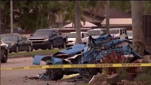 [TLMD - MIA] Fatal accidente en Miami tras chocar contra un poste