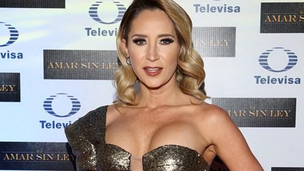Geraldine Bazán luce radiante con escote de infarto