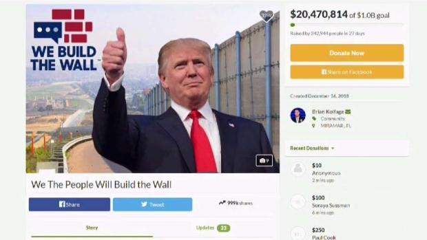 GoFundMe devolverá 20 millones donados para el muro en la frontera