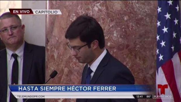 Mensaje de Héctor, el hijo mayor de Ferrer Ríos