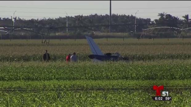 Hombre muere al caer avioneta
