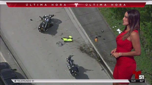 [TLMD - MIA] Hospitalizado policía de Doral tras accidente