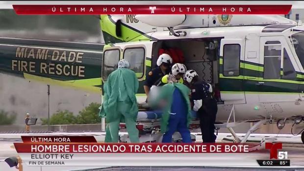 [TLMD - MIA] Joven es herido en un accidente de bote