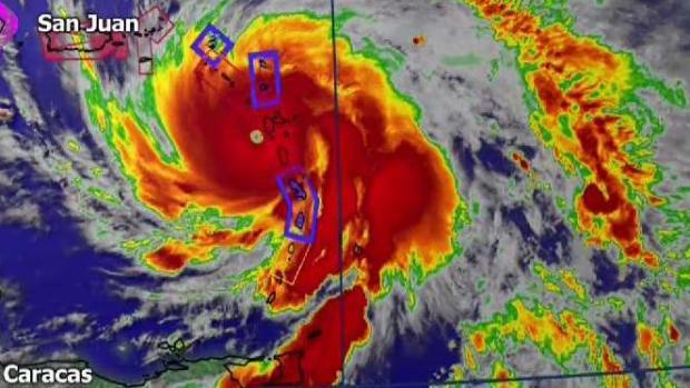 Vuelven a ubicar entrada del huracán María al sureste de Puerto Rico