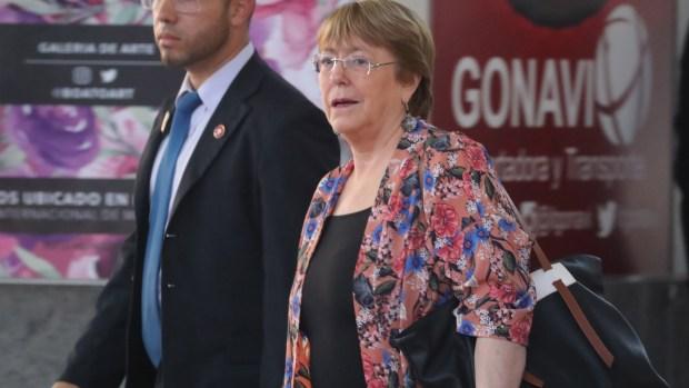 Bachelet llega a Venezuela en visita sobre derechos humanos