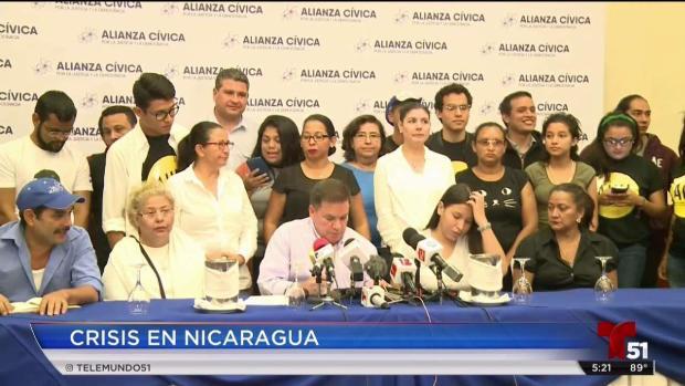 [TLMD - MIA] Nicaraguenses presionan por la liberación de encarcelados