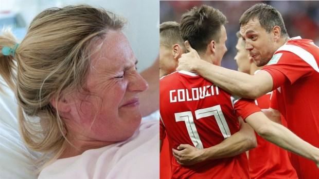[World Cup 2018 PUBLISHED] Rusa da a luz festejando un gol y nombra al niño como el jugador