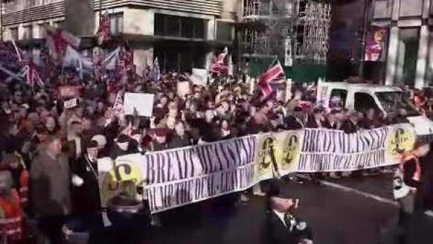 """Protestas en Londres por el """"brexit"""""""