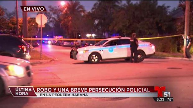 [TLMD - MIA] Reportan robo y persecución policial en Pequeña Habana