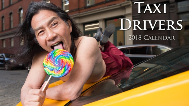 Taxistas de Nueva York se desnudan en calendario anual 2018
