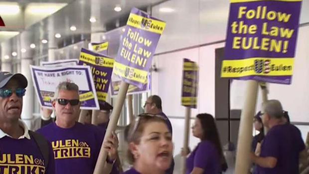 [TLMD - MIA] Trabajadores van a huelga en el aeropuerto de Miami