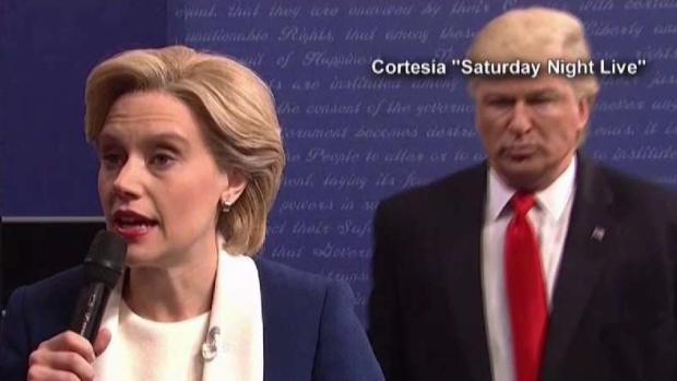 [TLMD - MIA] Programa de NBC parodia debate de Trump y Clinton