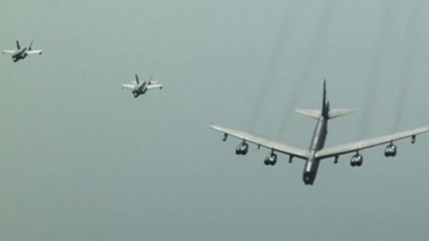 Como nunca los viste: de cerca, los vuelos amenazantes de EEUU