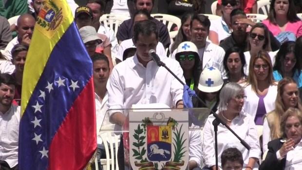 """[TLMD - Houston] Guaidó advierte que hará """"lo necesario"""" para que entre la ayuda a Venezuela"""