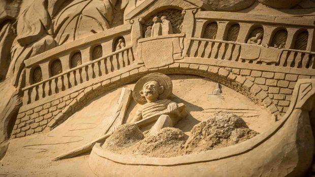 Colosal: presentan el castillo de arena más alto del mundo