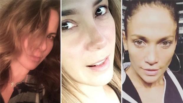 Las famosas ... con y sin maquillaje