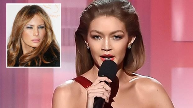 Modelo se burla de Melania Trump en los American Music Awards